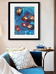E-HOME® Framed Canvas Art, Abstract Fish Framed Canvas Print