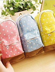 Mini School Bag with Ball-points Shaped Multi Color Canvas Coin Purse (Random Delivery)