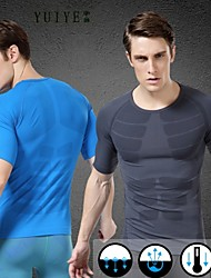 YUIYE® New Special Short-sleeved T-Shirts Men's Sports Body Sculpting Shaping Clothes Breathable Wicking Tight Tops