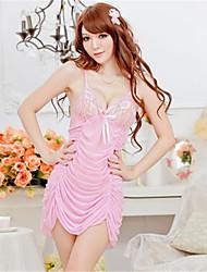 Chemises & Blouses Ultra Sexy Vêtement de nuit Femme Couleur Pleine Dentelle Organza Rose Noir