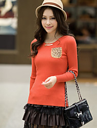 Women's Round Neck Long Sleeved Knit Shirt