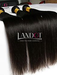 """4 pcs lote 8 """"-30"""" cabelos lisos tramas matérias não transformados Indiano pacotes tecer cabelo humano preto naturais emaranhado grátis"""