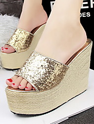Women's Shoes  Platform Wedges/Platform/Comfort/Open Toe Slippers Casual Black/Red/Silver/Gray/Gold