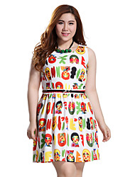 2015 New Style Women Plus Size Colorful Slimming Sleeveless Tank Cute Summer Party Dress