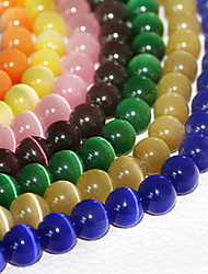 Beadia 120Pcs Fashion 6mm Round Glass Cat Eye Beads 9 Colors To Choose(Random Color)