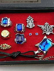Schmuck Inspiriert von Black Butler Ciel Phantomhive Anime Cosplay Accessoires Halsketten / Broschen / Ring Blau / SilberLegierung /