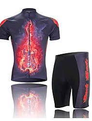 Soul Guitar Short Sleeved Suit Riding Bicycle, Moisture Wicking Clothing, Motor Function Material