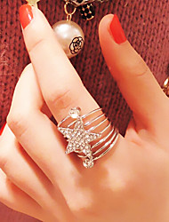 Fashion Multilayer Loop Inlay Diamond Star Rings (1pc)