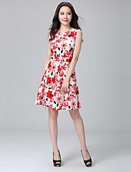 Woman's Plus Size Sleeveless Suit Dress