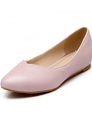 Girls' Shoes Outdoor/Dress/Casual Heels/Round Toe Leatherette Pumps/Heels Blue/Pink/White/Metallic