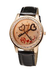 neueste Mode Damen sweet heart 5 Farben-Kristall-Diamant Rhinestoneuhren Frauen casual dress-Quarz-Armbanduhr