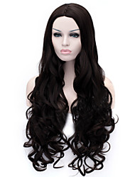 The New Cartoon Color Wig Black Inclined Bang Curly Hair Wigs