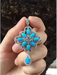 925 Silver Turquoise Pendant