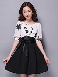 Nuo Wei si bordado vestido de dos piezas de la mujer delgada ®