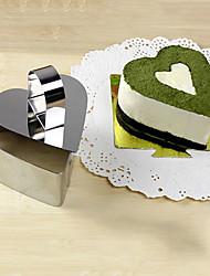 Ferramenta 3''mousse conjunto de coração o amor anel mousse com bolo de empurrar queijo molde de aço inoxidável