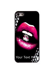 Personalized Gift The Sexy Lip design Aluminum Hard Case for iPhone 5/5S