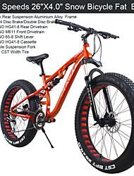 """24 vitesses 26 """"x17"""" x4.0 """"pneu de graisse moto neige gk ™ graisse bicicleta montagne bike26 verrouillage frein fourche à suspension nutt"""
