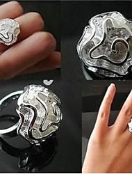 Кольца Мода Для вечеринок Бижутерия Сплав Женский Кольца на вторую фалангу 1 комплект,Стандартный размер Серебряный