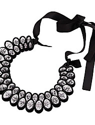 Elegant Large Crystal Ribbon Necklace For Demitoilet