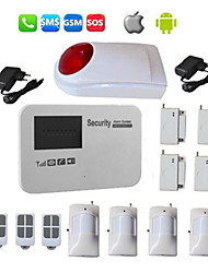 GSM Alarm Systems Android SMS Security Home Burglar System With Wireless Siren