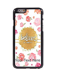 Personalized Gift Believe Design Aluminum Hard Case for iPhone 6