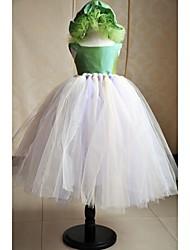 Flower Girl Dress Floor-length Silk/Tulle A-line Sleeveless Dress (Hat Included)