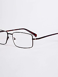 [Free Lenses]  Men 's Rectangle Full-Rim Reading Glasses