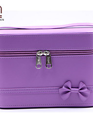 Handcee® Hot Sale Fashion Style PU Bowknot Cosmetic Box