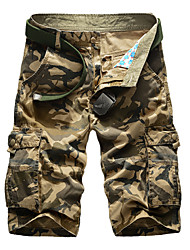 The summer male casual pants loose pants five tooling Multi Pocket Shorts Camo shorts beach pants pants tide