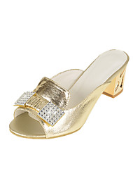 Women's Shoes Chunky Heel Open Toe Sandals Office & Career/Dress White/Silver/Gold