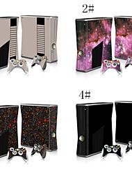 décalques autocollant pour xbox360 console mince&2 contrôleurs