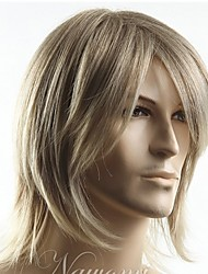 Top Grade Quality Man's short Blonde straight Synthetic hair wig Men's Best Choice free shipping