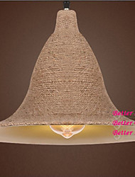 Vintage Rope Hat Pendant Light with One Light