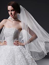Wedding Veil One-tier Fingertip Veils Ribbon Edge