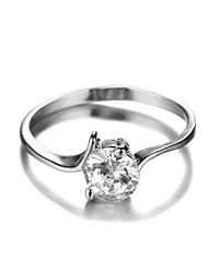 Sjeweler Ladies Platinum Plating Zircon Ring Wedding Ring