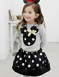 Girl's Black / Red Clothing Set Cotton Winter / Spring / Fall