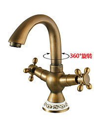 Shengbaier Bathroom Sink Faucet With Antique Brass Finish Antique Design Faucet