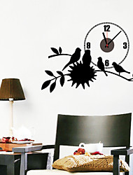 DIY Birds on The Tree Wall Clock