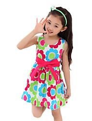 Children Kids Girls Baby Cotton Printing Sleeveless Summer Dress Clothes