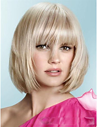 New arrivals Medium Bob Short Haircuts about 8Inches Blonde Perfect Synthetic Hair Wig Free shipping