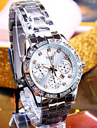 Women's New Luxury High-End with Calendar Round Diamond Dial Steel Strip Fashion Business Life Waterproof Quartz  Watch Cool Watches Unique Watches