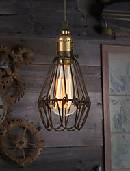 Pendant Lights Bulb Included Vintage American country style restoring ancient ways, wrought iron small cage droplight