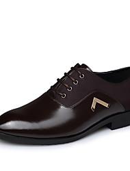 Sapatos Masculinos Oxfords Preto / Marrom Couro Ar-Livre / Escritório & Trabalho