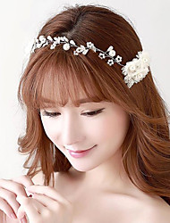 Rhinestones Flowers Wedding/Party Bridal Headpieces/Forehead Jewelry with Imitation Pearls