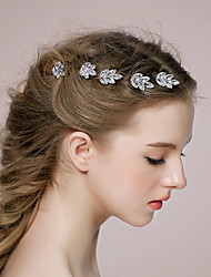 Women's Rhinestone Alloy Headpiece-Wedding Casual Hair Pin 1 Piece
