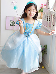 Girl's  Fashion Leisure Short Sleeve Princess  Bubble Skirt