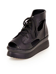 Women's Shoes Synthetic/Leatherette/Rubber Wedge Heel Wedges/Peep Toe/Novelty/Styles/Open Toe SandalsParty &