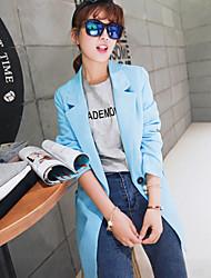 Women's Solid Blue/White/Purple Blazer , Party/Work Shirt Collar Long Sleeve