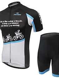 WEST BIKING® Men's Mountain Bike Clothing Suit Breathable Keep Riding Wicking Cycling Clothing Short Suit