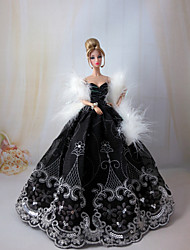 Princess Dresses For Barbie Doll White / Black Dresses For Girl's Doll Toy